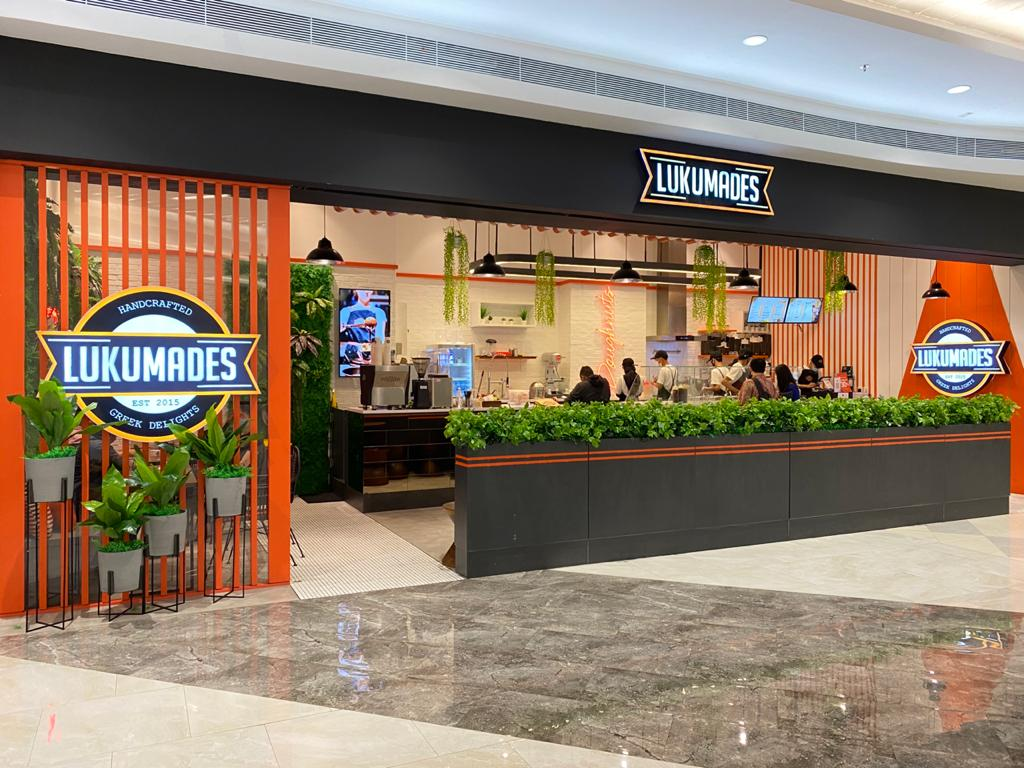 Lukumandes shop front in lippo mall puri st. moritz
