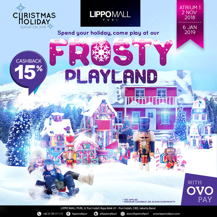 frosty playland with ovo in lippo mall puri st. moritz