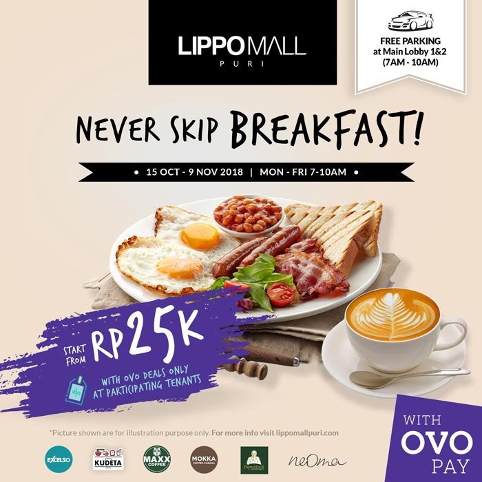 never skip breakfast event in lippo mall puri st. moritz