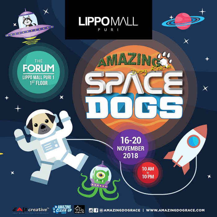 amazing dog race event in lippo mall puri st. moritz
