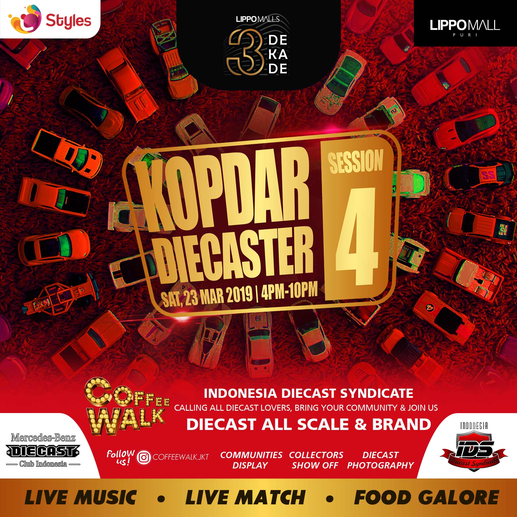 kopdar diecaster session 4 event in lippo mall puri st. moritz