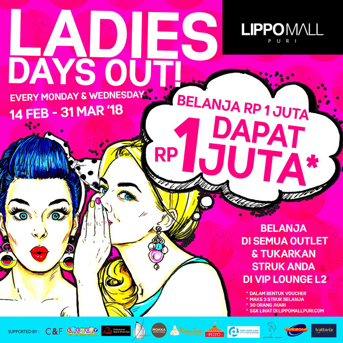 ladies days out in lippo mall puri st. moritz