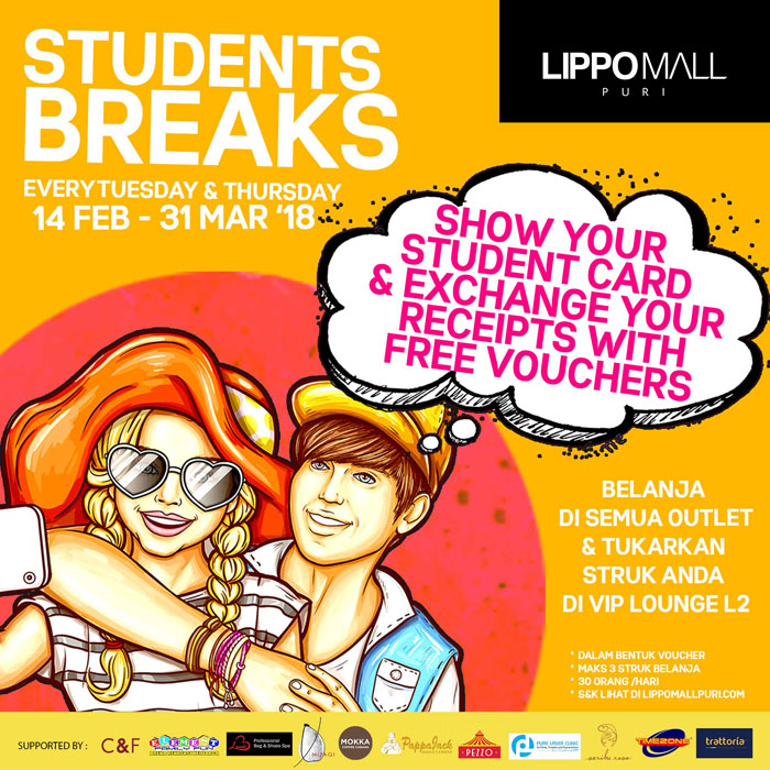 students breaks in lippo mall puri st. moritz