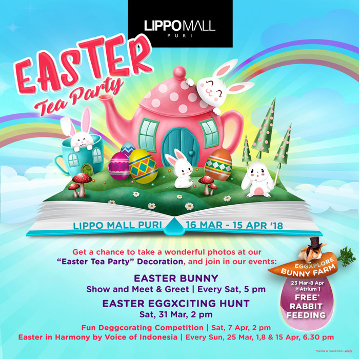 easter tea party event in lippo mall puri st. moritz