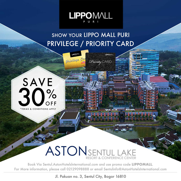 hotel aston sentul promo in lippo mall puri st. moritz with priority card