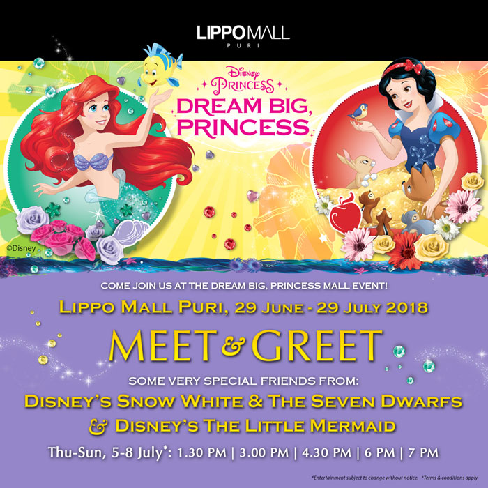 disney dream big princess event in lippo mall puri st. moritz
