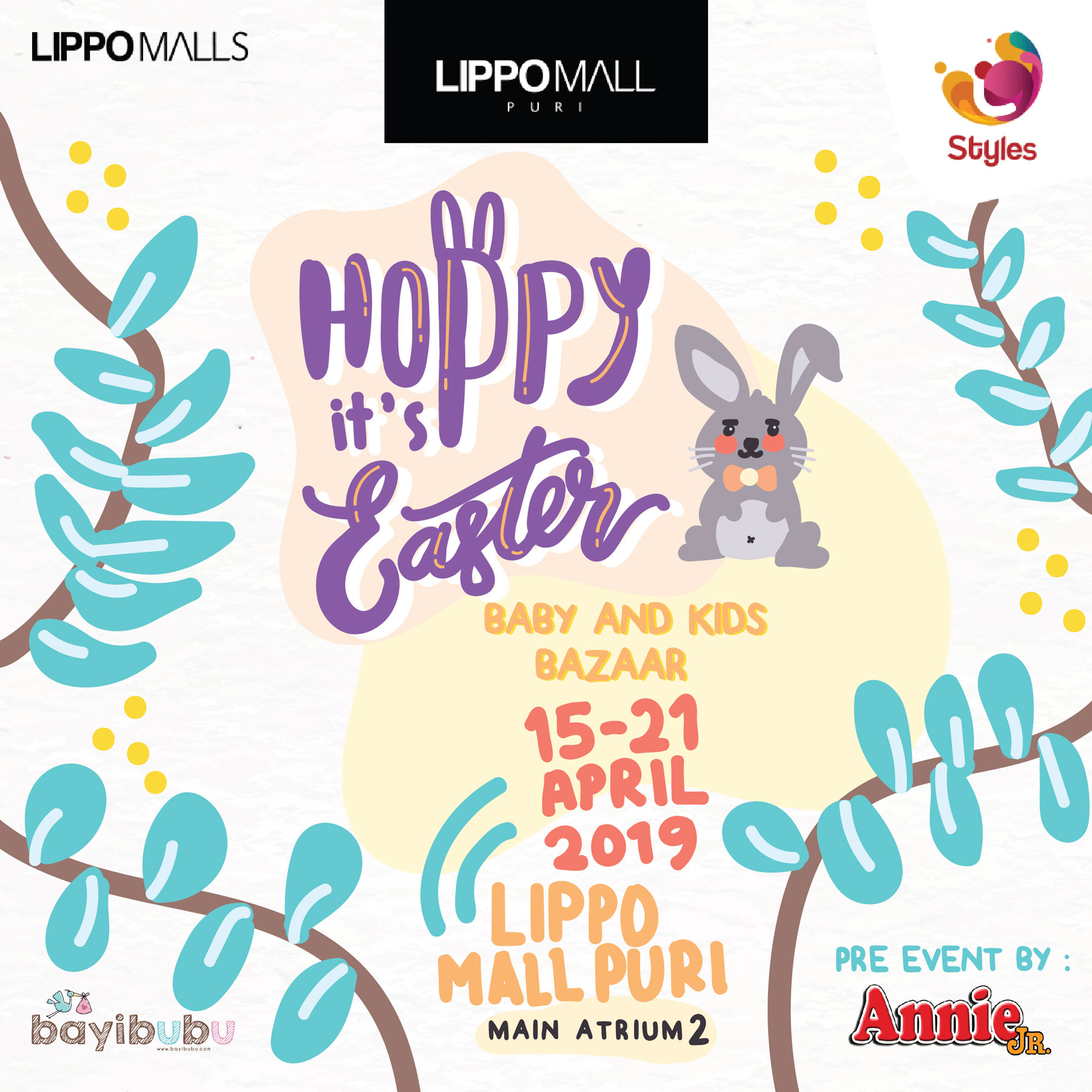 easter baby and kids bazaar event in lippo mall puri st. moritz