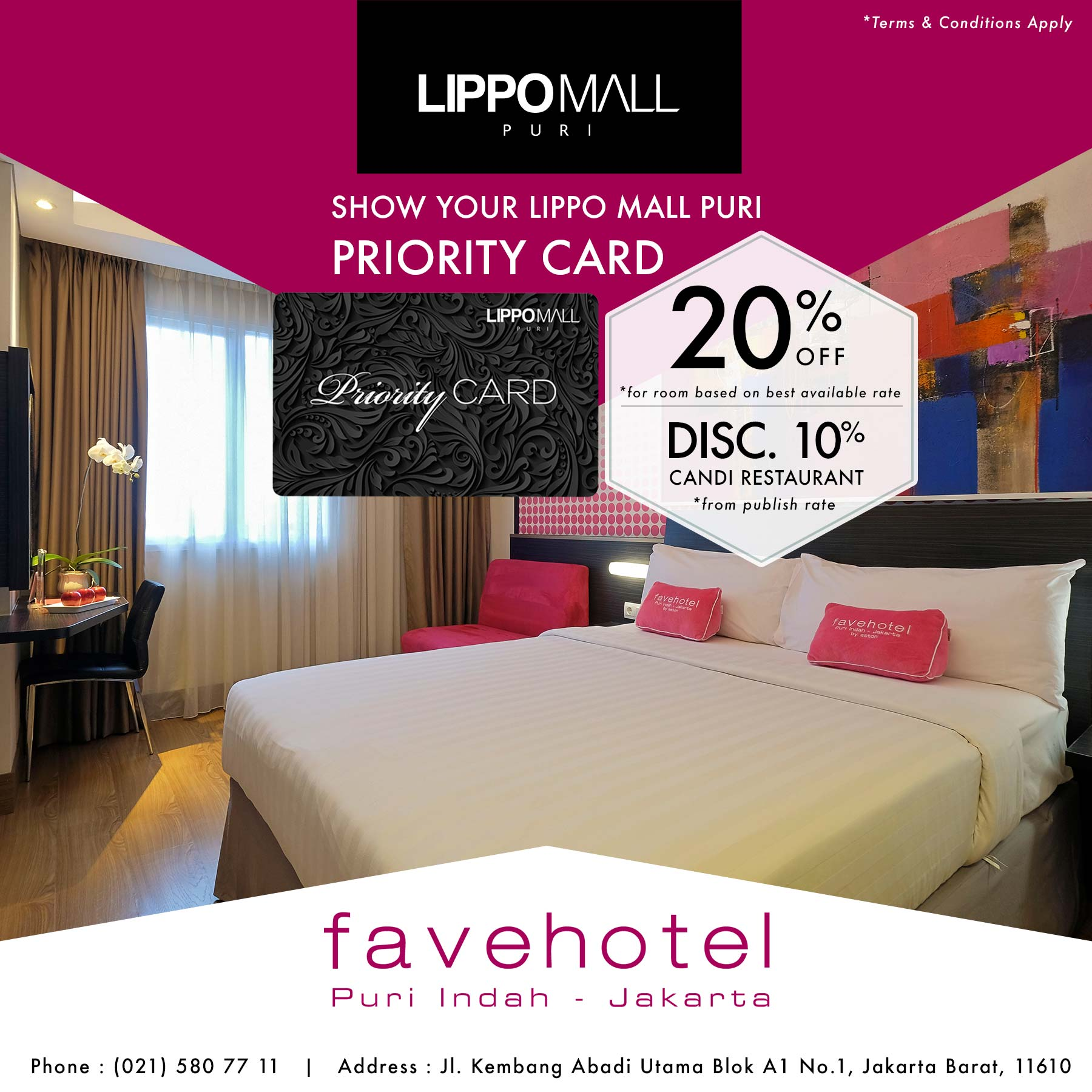 hotel fave promo in lippo mall puri st. moritz with priority card