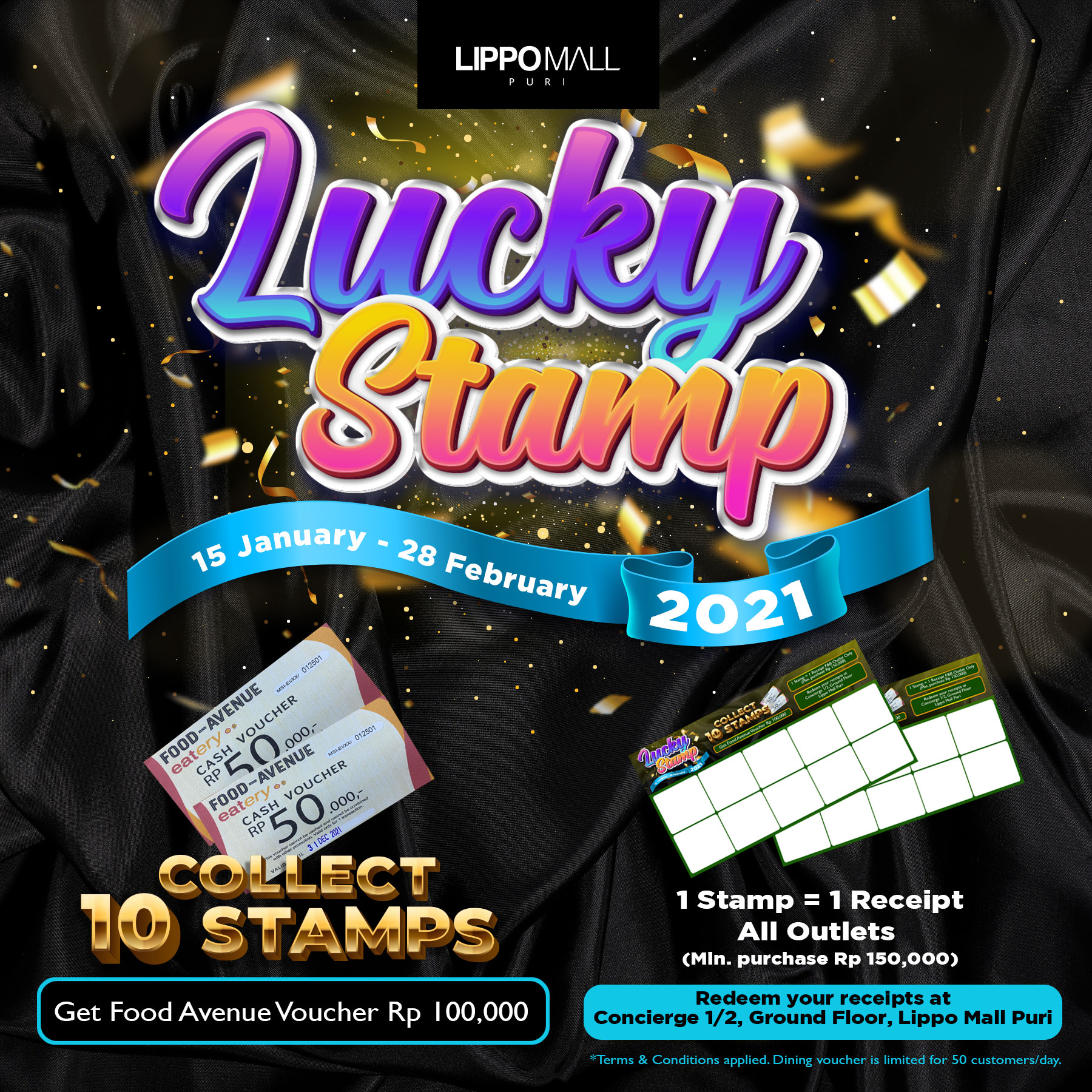 Lucky Stamp Promo in lippo mall puri st. moritz