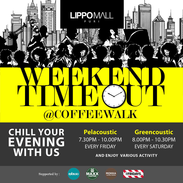 weekend timeout event in lippo mall puri st. moritz
