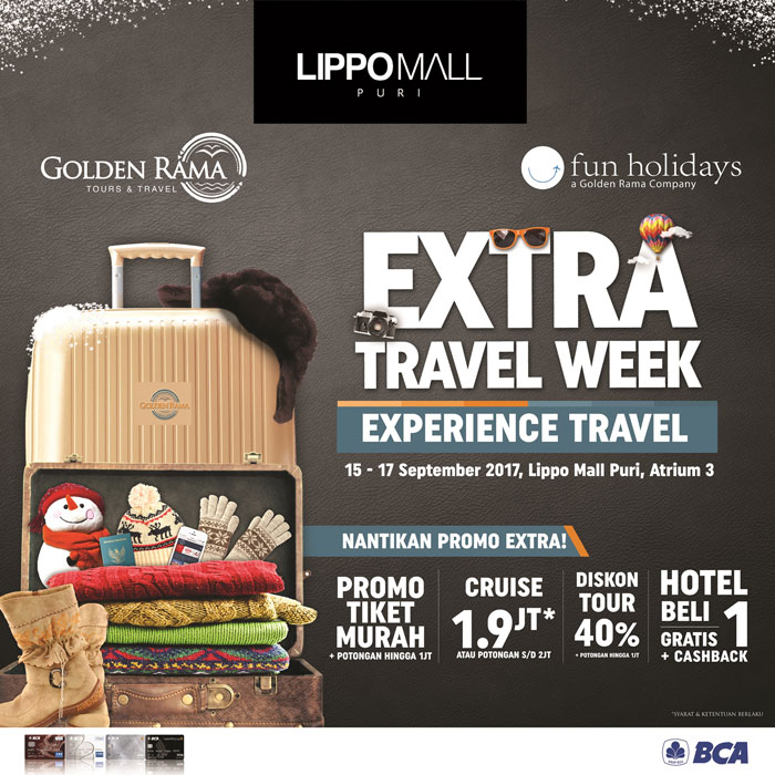 extra travel Week in lippo mall puri st. moritz