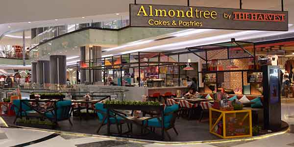 Almond Tree shop front in lippo mall puri st. moritz