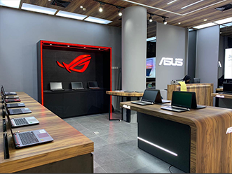 ASUS shop front in lippo mall puri st. moritz