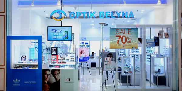 Optik Belyna shop front in lippo mall puri st. moritz