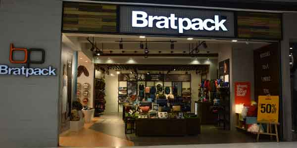 Bratpack shop front in lippo mall puri st. moritz