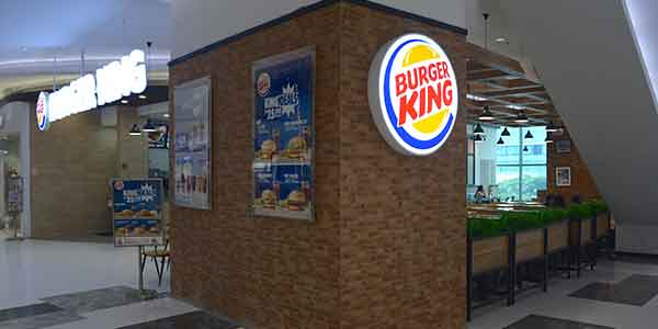 Burger King shop front in lippo mall puri st. moritz