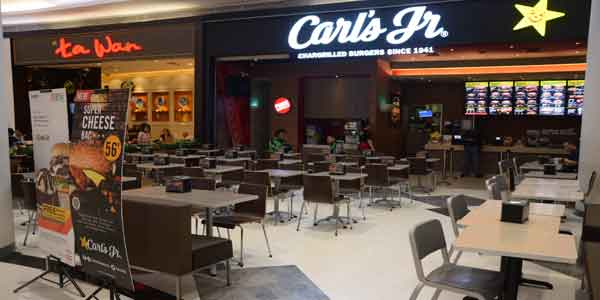 Carls Jr shop front in lippo mall puri st. moritz