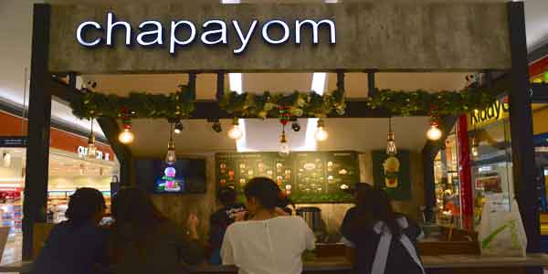 Chapayom shop front in lippo mall puri st. moritz