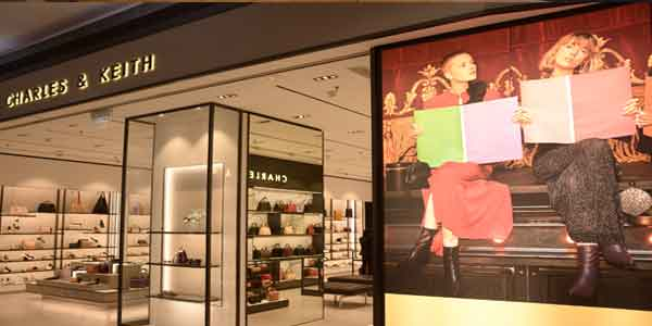 Charles & Keith shop front in lippo mall puri st. moritz