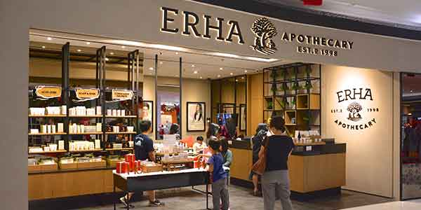 Erha Apothecary shop front in lippo mall puri st. moritz