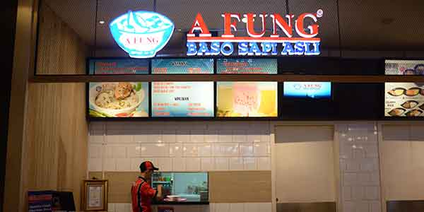 A Fung shop front in lippo mall puri st. moritz