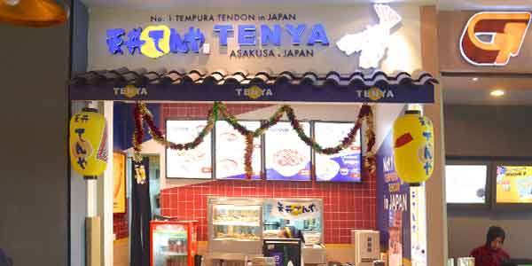 Tenya shop front in lippo mall puri st. moritz