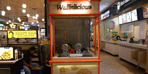 Waffelicious shop front in lippo mall puri st. moritz
