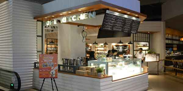 Kopi Kitchen shop front in lippo mall puri st. moritz