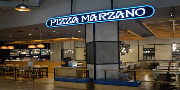 Pizza Marzano shop front in lippo mall puri st. moritz