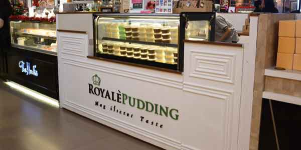 Royale Pudding shop front in lippo mall puri st. moritz