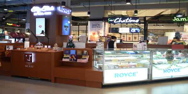 Royce Chocolate shop front in lippo mall puri st. moritz