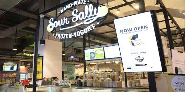 Sour Sally shop front in lippo mall puri st. moritz