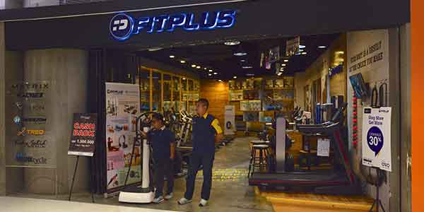 Fit Plus shop front in lippo mall puri st. moritz