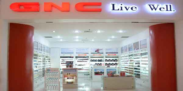 GNC Live Well shop front in lippo mall puri st. moritz