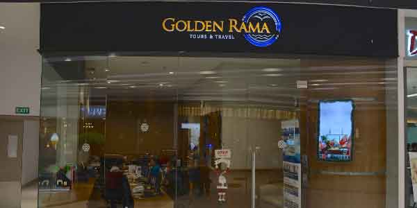 Golden Rama shop front in lippo mall puri st. moritz