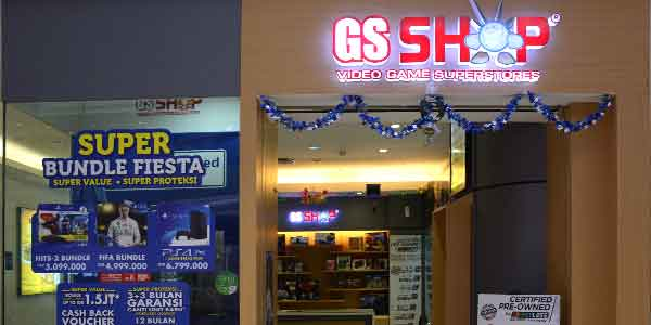 GS Shop shop front in lippo mall puri st. moritz