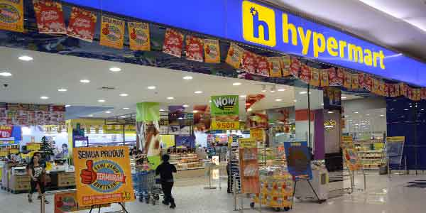 Hypermart shop front in lippo mall puri st. moritz