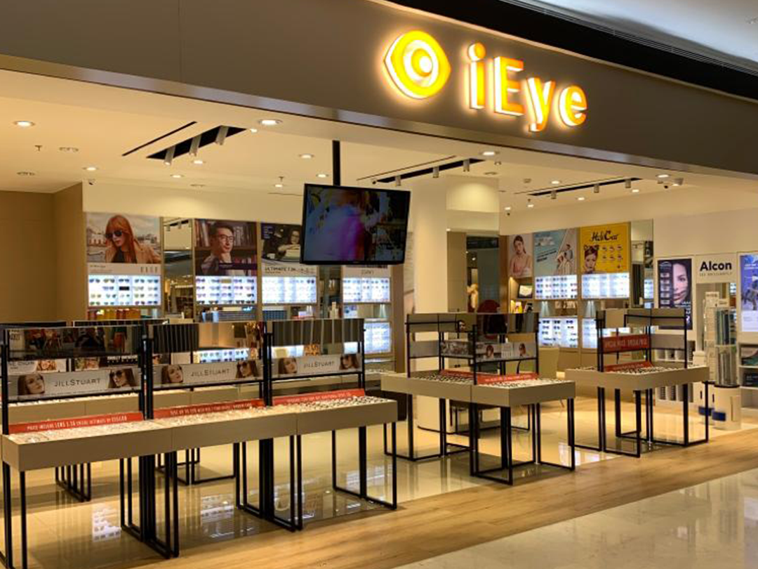 IEye shop front in lippo mall puri st. moritz