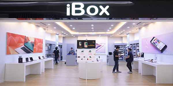 iBox shop front in lippo mall puri st. moritz