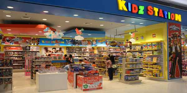 Kidz Station shop front in lippo mall puri st. moritz