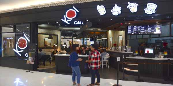 KOI Cafe shop front in lippo mall puri st. moritz