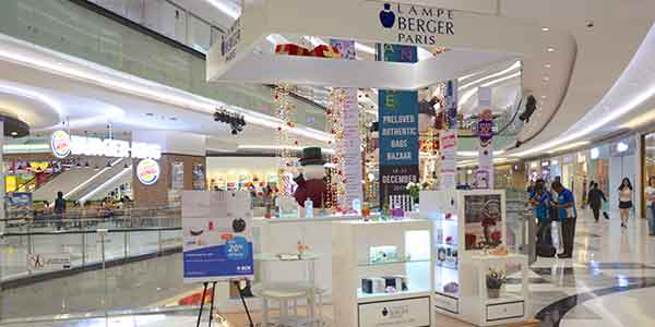 Lampe Berger Paris shop front in lippo mall puri st. moritz