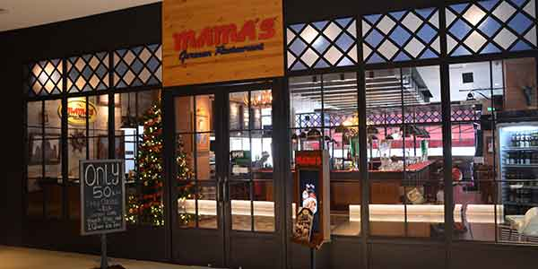 Mamaaposs German Restaurant shop front in lippo mall puri st. moritz