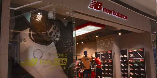 New Balance shop front in lippo mall puri st. moritz