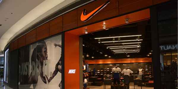 Nike shop front in lippo mall puri st. moritz