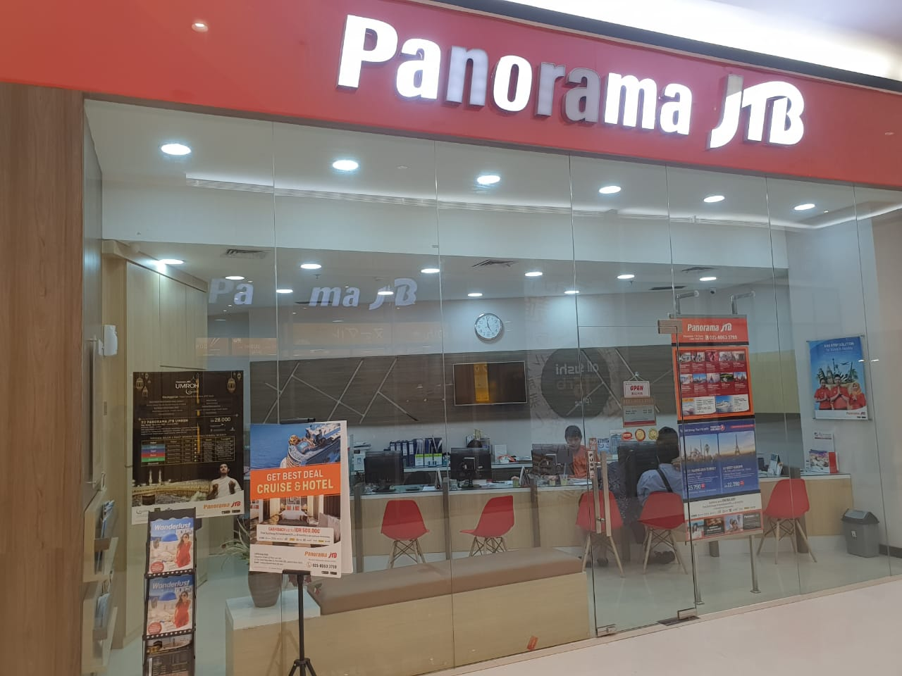 Panorama JTB shop front in lippo mall puri st. moritz