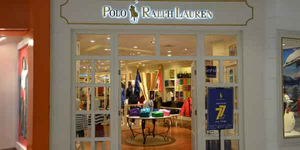Polo Ralph Lauren shop front in lippo mall puri st. moritz