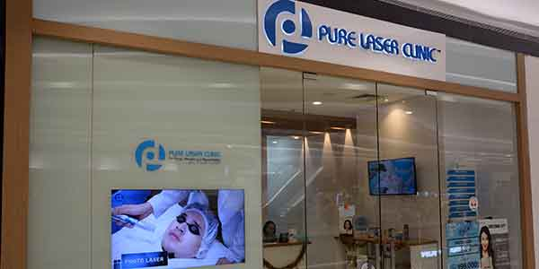 Pure Laser Clinic shop front in lippo mall puri st. moritz