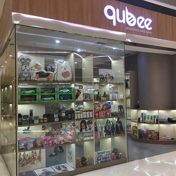 Qubee shop front in lippo mall puri st. moritz