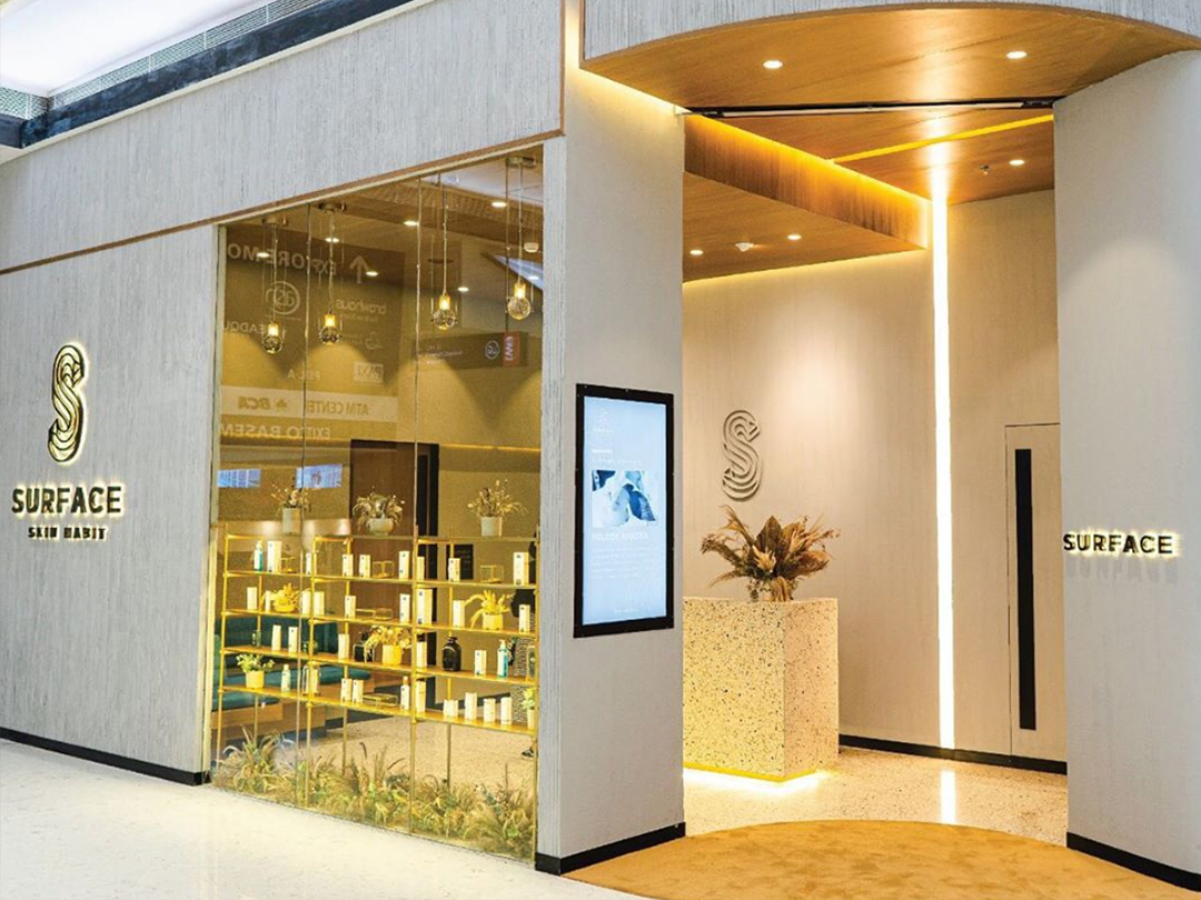 Surface Skin Habit shop front in lippo mall puri st. moritz